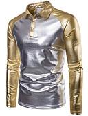 cheap Men's Shirts-Men's Active Polo - Solid Colored Sequins