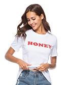 tanie T-shirt-T-shirt Damskie Bawełna Litera / Litera