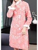 tanie Sukienki-Damskie Wzornictwo chińskie Spodnie - Kwiaty Rumiany róż / Półgolf