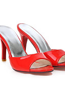abordables Mini-jupe-Femme Chaussures de confort Polyuréthane Eté Sandales Talon Aiguille Blanc / Rouge