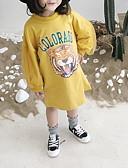 お買い得  女児 フーディーズ&スウェットシャツ-幼児 女の子 ベーシック ソリッド 長袖 ロング ポリエステル フーディーズ&スウェットシャツ ホワイト