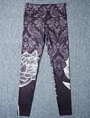 olcso Leggingek-Női Alkalmi Sportos Legging - Virágos Közepes csípő