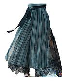 זול שמלות נשים-בגדי ריקוד נשים בוהו רגל רחבה מכנסיים פסים / חוף