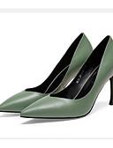 Недорогие Пояса-Жен. Балетки Наппа Leather Лето Обувь на каблуках На шпильке Черный / Бежевый / Зеленый / Повседневные