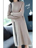cheap Women's Hoodies & Sweatshirts-Women's Going out Slim Sheath Dress Turtleneck