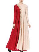 tanie Sukienki w rozmiarach plus-Damskie Wyjściowe Swing Sukienka Wysoka talia Maxi