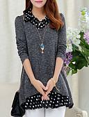 preiswerte Damen Pullover-Damen Grundlegend / Street Schick Pullover - Solide / Punkt / Einfarbig, Patchwork