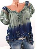 ieftine Tricou-Pentru femei Tricou De Bază - Geometric Dantelă