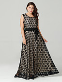 cheap Mother of the Bride Dresses-Women's Plus Size Vintage Lace Dress - Polka Dot Lace Maxi