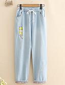ieftine Pantaloni de Damă-Pentru femei Zvelt Blugi Pantaloni Floral