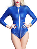 cheap Zentai Suits-Women's Plus Size Super Sexy Teddy Nightwear - Ruched Solid Colored