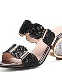 ieftine Costum Damă Două Bucăți-Pentru femei Pantofi Pânză Primăvară Confortabili Sandale Heteltipic călcâi Auriu / Negru / Argintiu