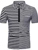 お買い得  メンズTシャツ&タンクトップ-男性用 Polo ベーシック ストライプ