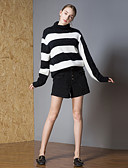 cheap Women's Sweaters-8CFAMILY Women's Active Pullover - Striped / Color Block