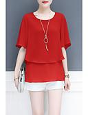 economico Camicie da donna-blusa da donna - girocollo tinta unita