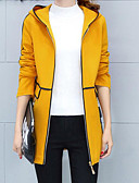 رخيصةأون بليزرات للنساء-نسائي وردي بلاشيهغ البيج أصفر XL XXL XXXL جاكيت ألوان متناوبة مناسب للخارج