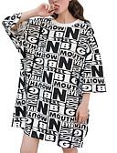 ieftine Tricou-tricou pentru femei - gât rotund geometric