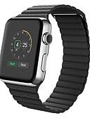 hesapli Saat Aksesuarları-Buzağı Tüyü Watch Band kayış için Apple Watch Series 3 / 2 / 1 Siyah / Mavi / Kahverengi 23cm / 9 inç 2.1cm / 0.83 İnç