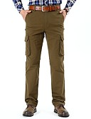 cheap Men's Pants & Shorts-Men's Basic / Military Plus Size Cotton Loose Chinos / Cargo Pants - Solid Colored Gray / Fall / Winter