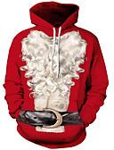 abordables Ropa Interior y Calcetines de Hombre-Hombre Básico / Exagerado Tallas Grandes Corte Ancho Pantalones - 3D / Personajes Estampado Rojo / Navidad / Con Capucha / Manga Larga / Otoño / Invierno