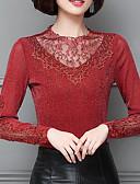 זול חולצה-אחיד בסיסי חולצה - בגדי ריקוד נשים