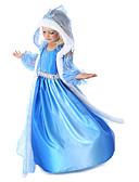 Χαμηλού Κόστους Φορέματα για κορίτσια-Παιδιά / Νήπιο Κοριτσίστικα Ενεργό / Γλυκός Πάρτι / Αργίες Μονόχρωμο Αμάνικο Μίντι Φόρεμα Θαλασσί