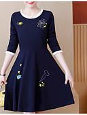 preiswerte Damen Kleider-Damen Grundlegend A-Linie Kleid Knielang