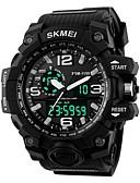 Недорогие Цифровые часы-SKMEI Муж. Жен. Спортивные часы электронные часы Цифровой силиконовый Черный 30 m Защита от влаги Календарь Секундомер Цифровой На каждый день - Красный Зеленый Синий / Фосфоресцирующий