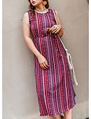 ieftine Rochii de Damă-Pentru femei Zvelt Pantaloni Talie Înaltă Roșu-aprins / Ieșire