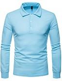 זול חולצות פולו לגברים-אחיד צווארון חולצה Polo - בגדי ריקוד גברים / שרוול ארוך