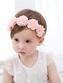Χαμηλού Κόστους Παιδικά Αξεσουάρ Κεφαλής-Νήπιο Κοριτσίστικα Ενεργό Μονόχρωμο / Φλοράλ Σιφόν Αξεσουάρ Μαλλιών Ανθισμένο Ροζ Ένα Μέγεθος