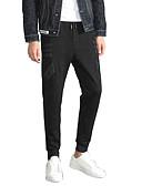 ieftine Pantaloni Bărbați si Pantaloni Scurți-Bărbați De Bază / Șic Stradă Mărime Plus Size Bumbac Pantaloni Chinos Pantaloni - Mată Imprimeu Talie Joasă Negru / Sport / Toamnă