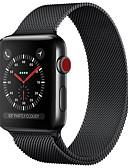 رخيصةأون هدايا سلاسل مفاتيح للحضور-ستانلس ستيل حزام حزام إلى Apple Watch Series 3 / 2 / 1 أسود / أزرق / فضة 23CM / 9 بوصة 2.1cm / 0.83 Inches