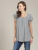 tanie Topy damskie-T-shirt Damskie Solidne kolory Czarno-biały