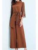 ieftine Costum Damă Două Bucăți-Pentru femei De Bază Set - Dungi, Pantaloni