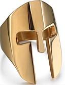 זול מגנים לטלפון-בגדי ריקוד גברים טבעת מידי 1pc זהב שחור כסף פלדת טיטניום Geometric Shape וינטאג' יומי תכשיטים סגנון וינטג' יצירתי מגניב