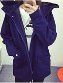 olcso Férfi kalapok, sapkák-női kabát - szilárd színű kapucnis