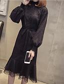 preiswerte Brautmutter Kleider-Damen Anspruchsvoll Hülle Kleid - Spitze, Solide Midi