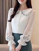 ieftine Bluză-Pentru femei Guler Peter Pan Bluză Ieșire Floral