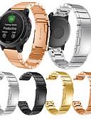 זול להקות Smartwatch-צפו בנד ל Approach S60 / Fenix 5 / Fenix 5 Plus Garmin אבזם מודרני מתכת אל חלד רצועת יד לספורט