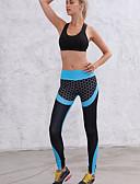 ieftine Leggings-Pentru femei Sport Legging - Bloc Culoare, În Cruce Talie medie