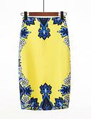 povoljno Ženske suknje-Žene Bodycon Osnovni Rad Suknje - Cvjetni print Visoki struk