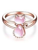 billige Romantiske blonder-Dame Elegant Ring - Kobber, Gullplatert rose Kat damer, Tegneserie Smykker Rose Gull Til Gave 6 / 7 / 8 / 9 / 10