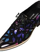 お買い得  メンズブレザー&スーツ-男性用 フォーマルシューズ ナパ革 秋 ブリティッシュ オックスフォードシューズ 証明書を着用する ブラック / パーティー