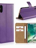 hesapli iPhone Kılıfları-Pouzdro Uyumluluk Apple iPhone X / iPhone 8 Plus / iPhone 8 Cüzdan / Kart Tutucu / Satandlı Tam Kaplama Kılıf Solid Sert Gerçek Deri