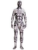 povoljno Zentai odijela-Zentai odijela Zentai odijela s uzorkom Cosplay Nošnje Super Heroes Policajci Odrasli Spandex Lycra Cosplay Nošnje Muškarci Žene Braon Printing Halloween Karneval Maškare / Odijelo za kožu