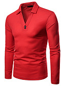 billige Herreskjorter-Polo Herre - Ensfarget Forretning / Grunnleggende