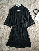 cheap Robes & Sleepwear-Women's Robes / Satin & Silk Nightwear - Lace, Solid Colored