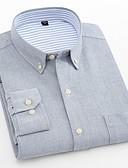 tanie Akcesoria dla mężczyzn-Puszysta Koszula Męskie Biznes / Podstawowy Bawełna Praca Szczupła - Solidne kolory / Długi rękaw