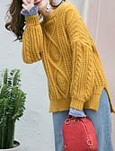 povoljno Bluza-Žene Izlasci Dugih rukava Pullover Jednobojni